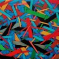 2010, accumulation (140), cm 30 x 25, acrylic on canvas