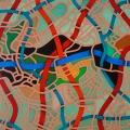 Territory,  40x40 cm, acrylic on linen canvas on poplar panel