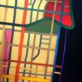 2006, map n°12, Palmetto Bay. 80x90 cm, acrylic on canvas on poplar panel