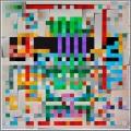 2020,  UNDER CONSTRUCTION, QR Code (4), acrylic on linen canvas, 80 x 80 cm