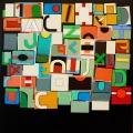 TRAVEL NOTES (appunti di viaggio),  Acrylic color on linen canvas on poplar panel, 40x40 cm