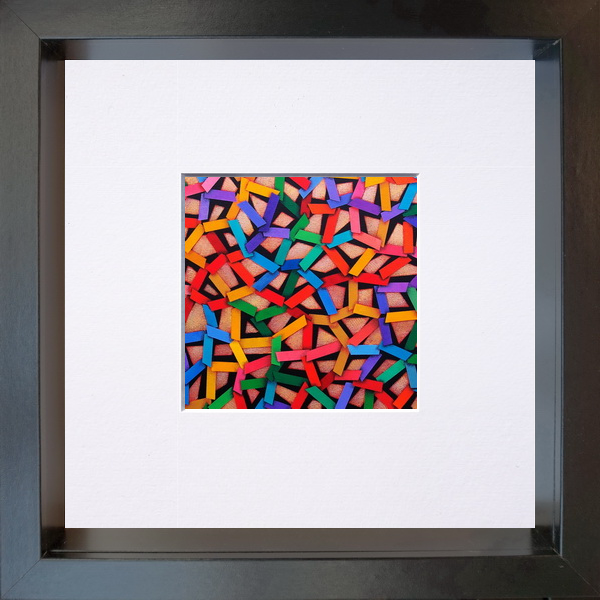 2020, The net (La rete), digital processing, 11x11 cm, single copy on paper