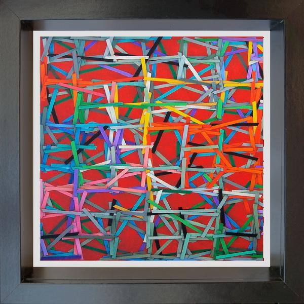 2020, The net (La rete), digital processing, 20x20 cm, single copy on watermarked Fabriano paper, 100x100 cotton