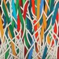2016, The white root, 40x40 cm, acrylic on linen  canvas on poplar panel