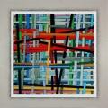 BARRED, cm 80 x 80,  Acrylic color on linen canvas