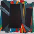 Barricade, 40 x 40 cm,  Acrylic  color on linen canvas on poplar panel