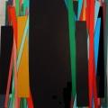 BARRED, cm 80 x100,   Acrylic color on linen canvas