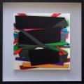 Barricade, 30 x 30 cm,  Acrylic  color on linen canvas on poplar panel