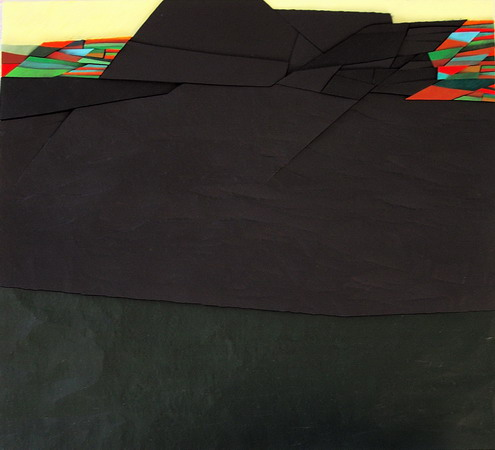 1992, territory n°16, cm 50x45, acrylic on panel in bas-relief