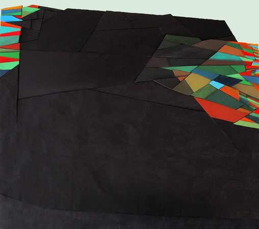1992, territory n°21, cm 50x45, acrylic on panel in bas-relief