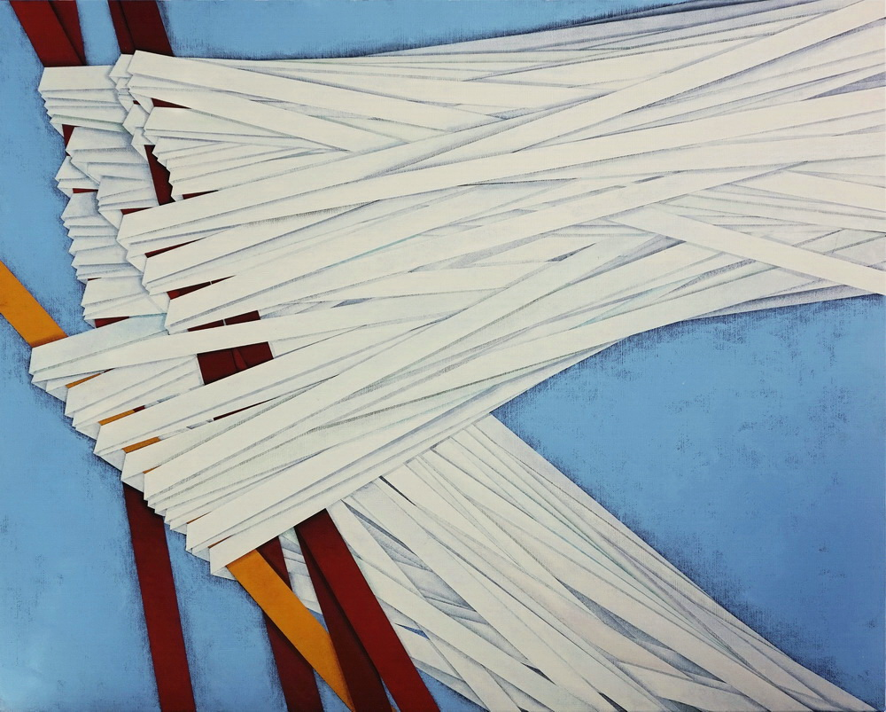 UPWIND (Controvento), cm 100x80, acrylic color on linen canvas