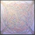 SPRING NEST (Nido di Primavera), 80x80 cm, acrylic color on linen canvas