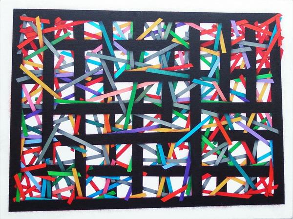 The black gate (1), cm 40 x 30, acrylic on linen canvas on poplar panel