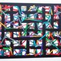 2014, The black gate (1), cm 40 x 30, acrylic on linen canvas on poplar panel