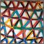 2013, the net (4), cm 100 x 100, acrylic on linen canvas