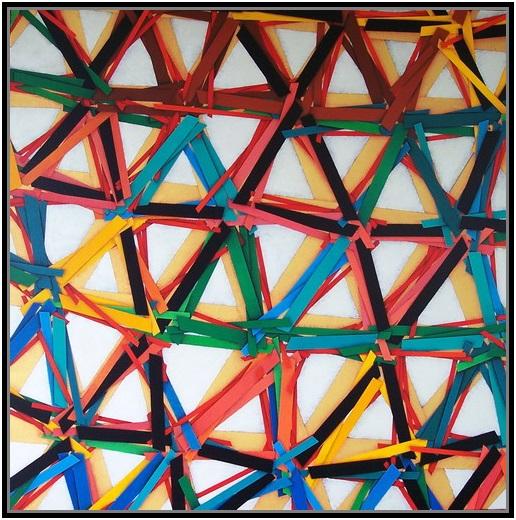 The net (4), cm 100 x 100, acrylic on linen canvas