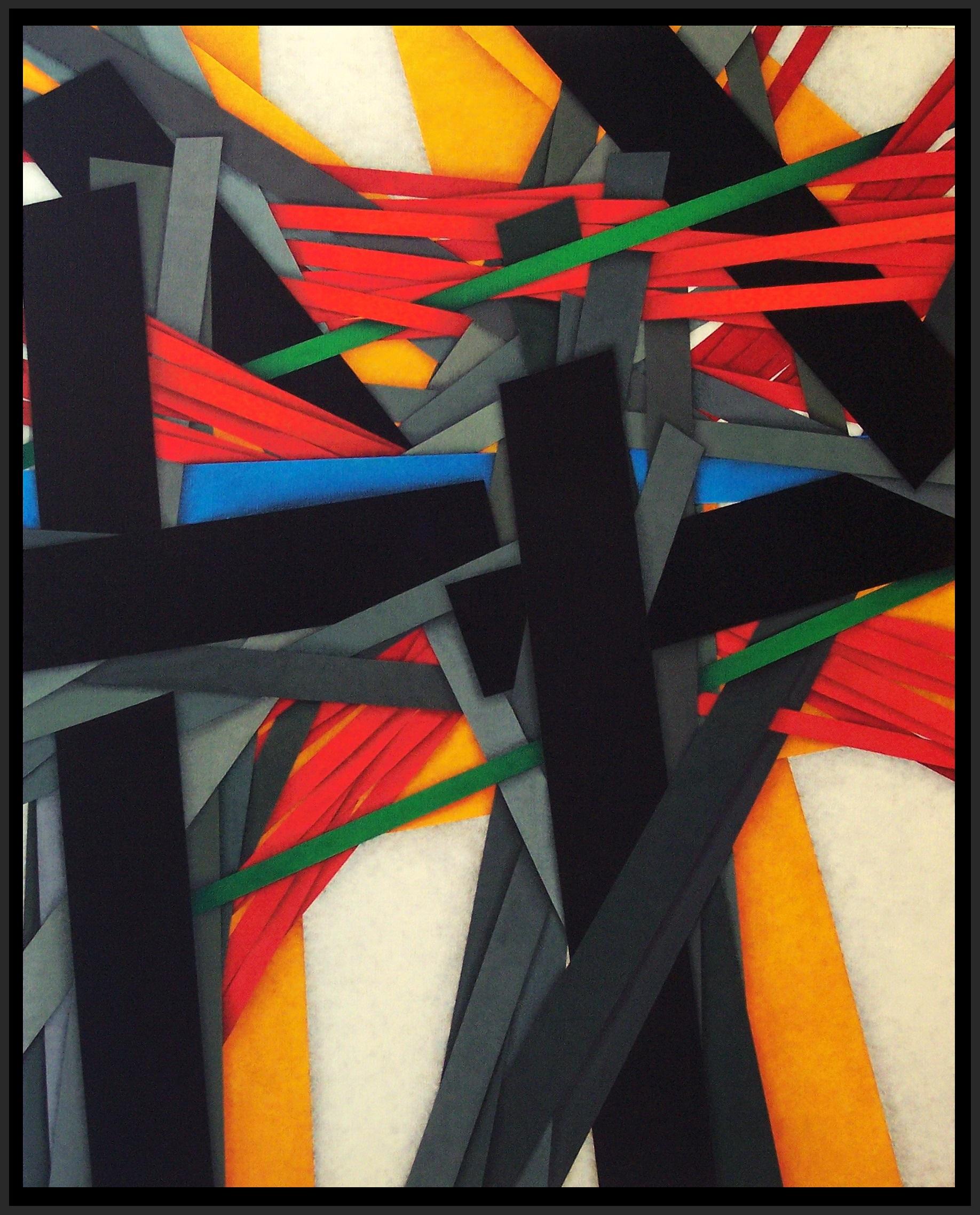2015, Power pole 12, cm 80x100, acrylic on linen canvas