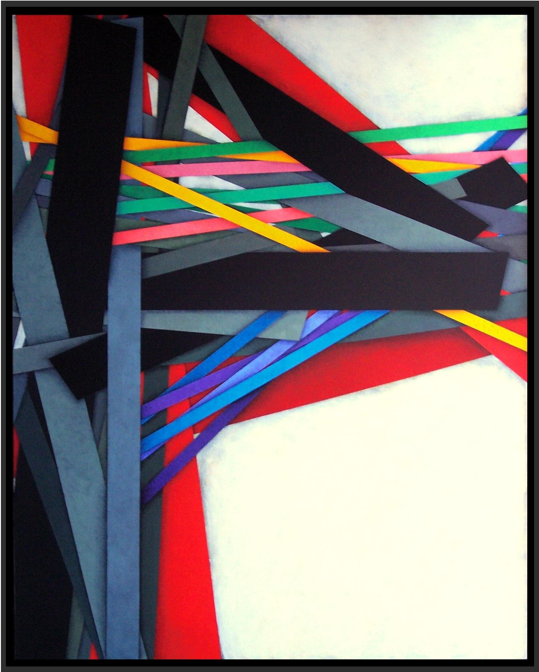 2015, Power pole 13, cm 80x100, acrylic on linen canvas