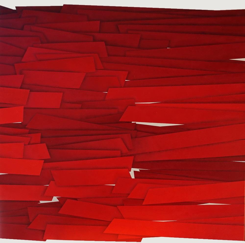2014, Barricade, 80x80 cm, acrylic on linen canvas