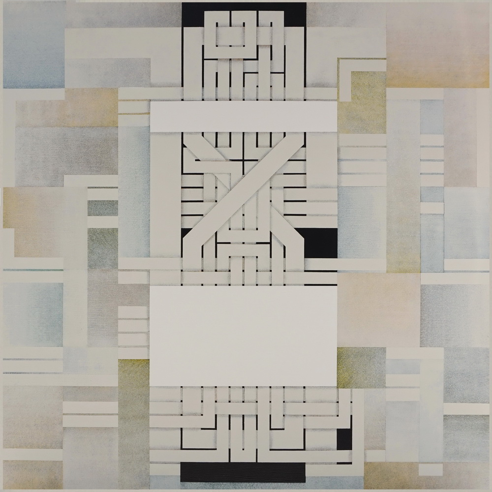 2019, Under construction, cm 80 x 80, acrylic on linen canvas