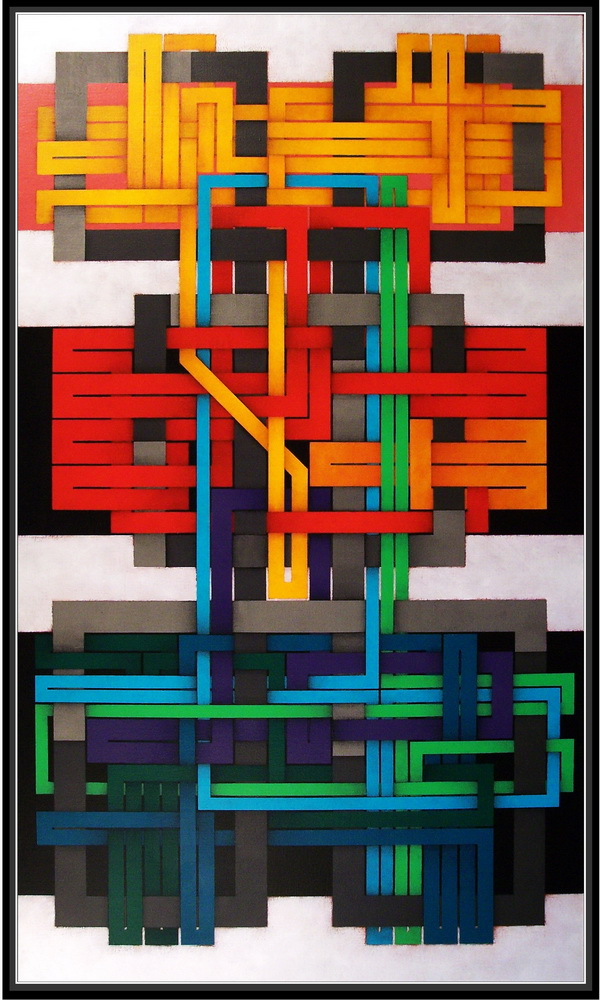 2008, robot 10, cm 70x120, acrylic on canvas