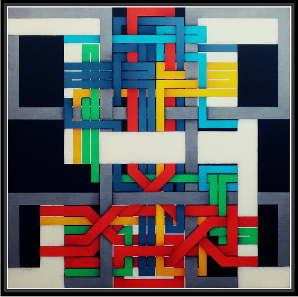 2008, interrupted circuit 1, cm 70x70, acrylic on canvas
