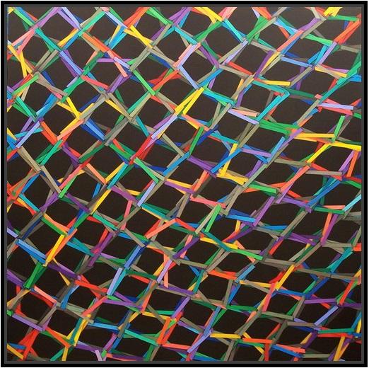 2013, the net (8), cm 150x150, acrylic on canvas