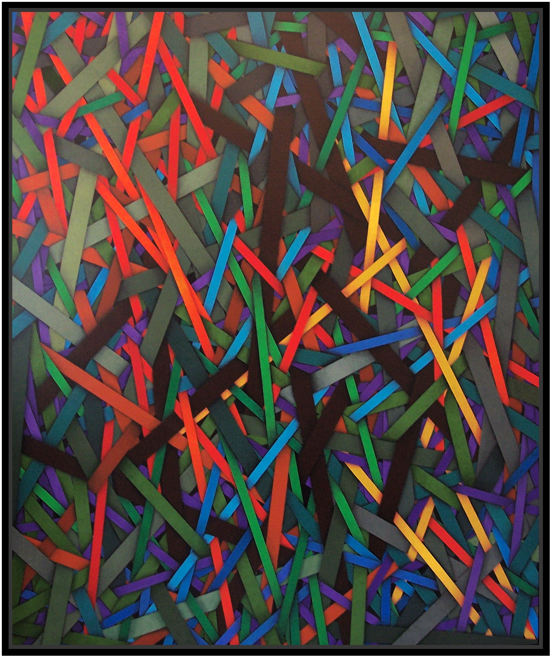 2011, barricade, cm 150x180, acrylic on canvas
