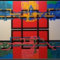 2007, circuit 10, cm 180 x 150, acrylic on canvas